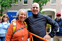 Bob Roll, famous cyclist, commentator, and writer poses with Jan
