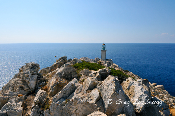 The lighthouse at the end of the Mani peninsula