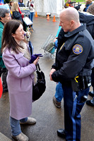 Gina Nikkel, director of the Oregon Association of Community Mental Health Progams with Officer Burley