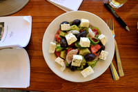 Our favorite Greek Salad at the local Neochori Taverna.