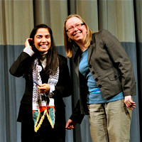 Malalai Joya with Willamette University Professor Marva Duerksen