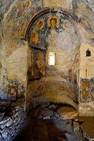 Frescoes inside this small church.